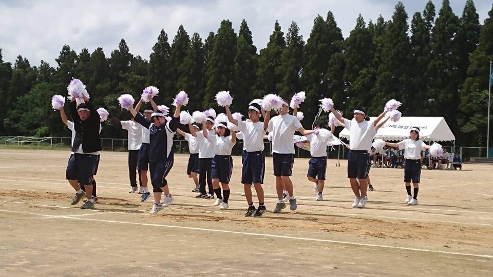 市立大沢野中学校と県立富山高等支援学校の運動会の応援に来ています!