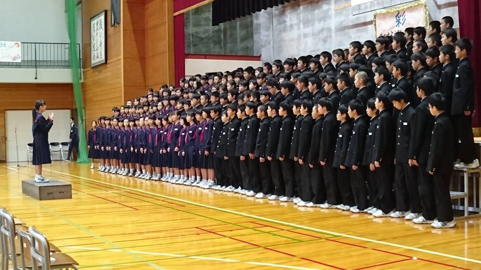 大沢野中学校学園祭に来ました!